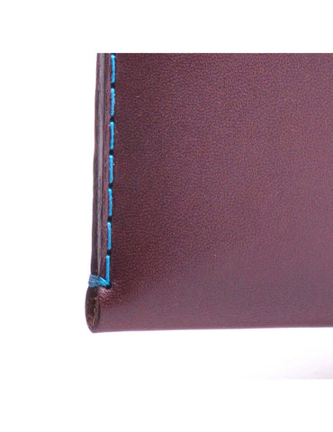 Wingback Leather Cardholder in Chestnut Brown