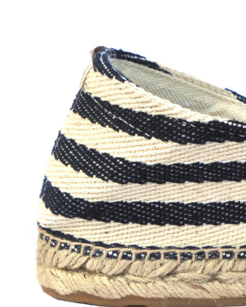 Las Rigas Navy Striped Canvas Espadrilles