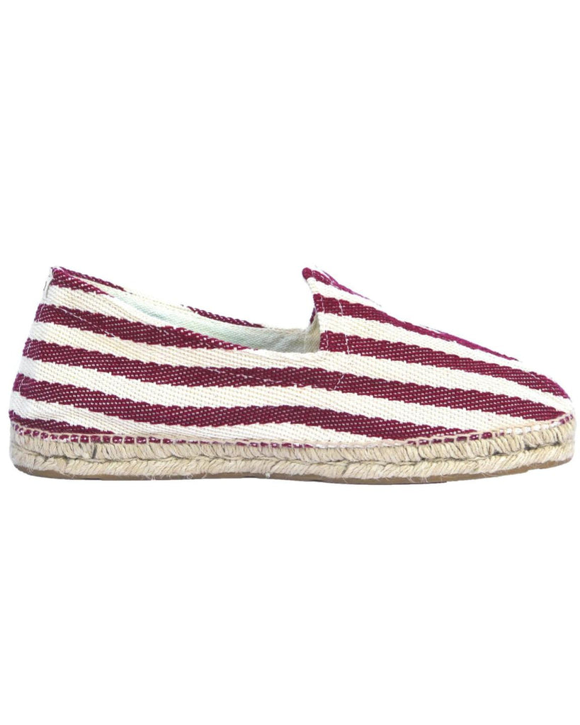 Las Rigas Red Striped Canvas Espadrilles
