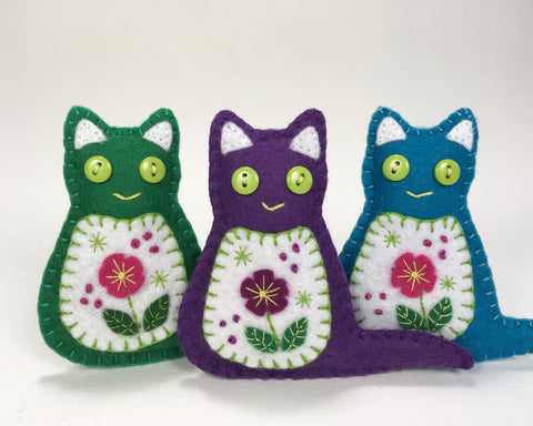 New Flower Cats, and a pattern to make your own.