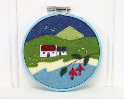 Miniature landscape embroideries