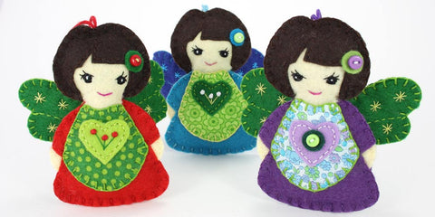 Felt angel Christmas ornaments