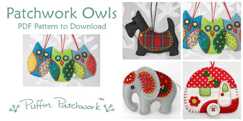PDF patterns by Puffin Patchwork