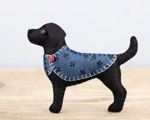 Bertie the Black Labrador Felt ornament