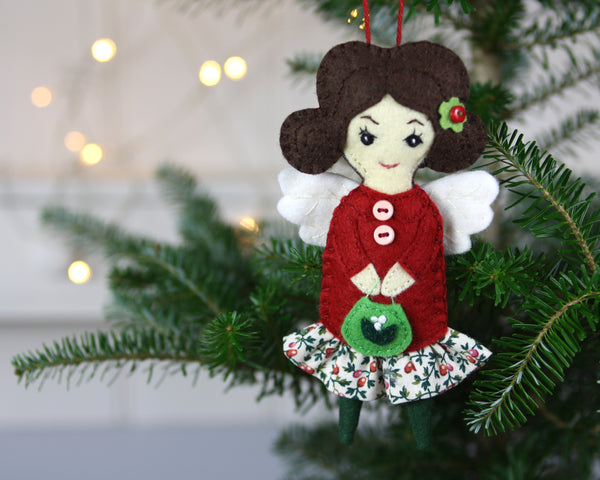 Rowan the Angel Christmas ornament