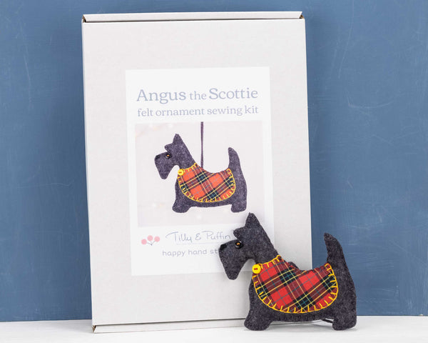 Scottie Christmas ornament kit