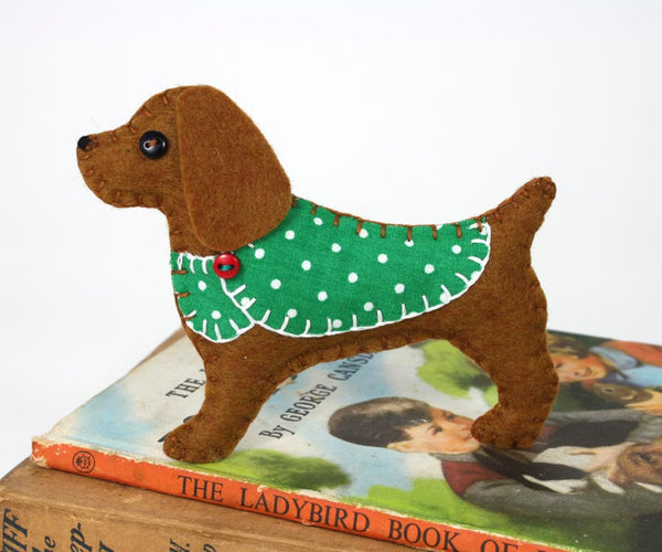 Cocker spaniel Christmas ornament, felt dog ornament, Millie
