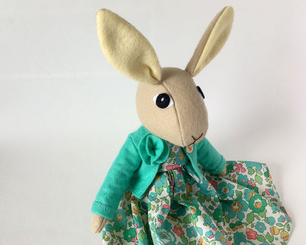 Tabitha Rabbit doll sewing pattern