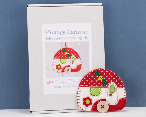 Vintage caravan felt sewing kit