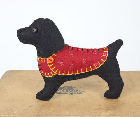 Cocker spaniel felt Christmas ornament