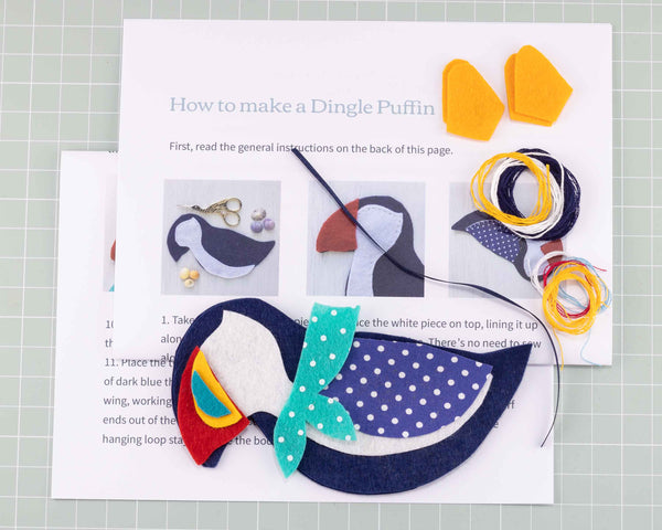 Dingle Puffin felt sewing kit