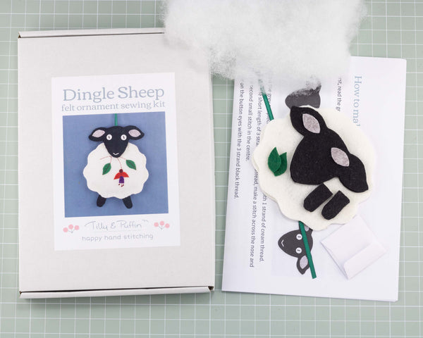 Dingle Sheep felt sewing kit