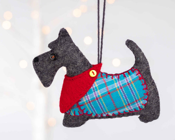 Dougal the Scottie Dog Christmas Ornament