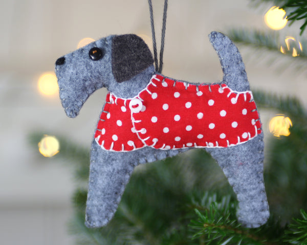 Dog Christmas Ornament, Stanley the Terrier