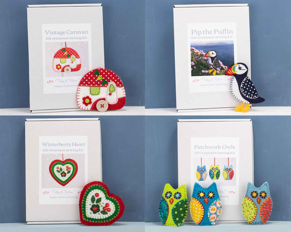 Tilly & Puffin felt ornament kits