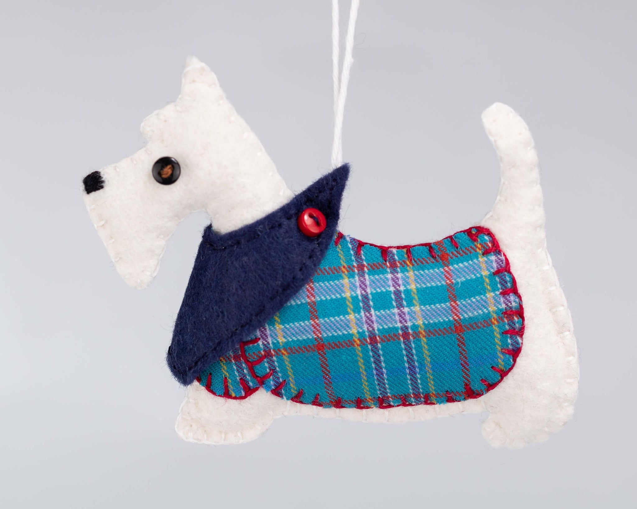 Hamish the Scottie dog felt ornament