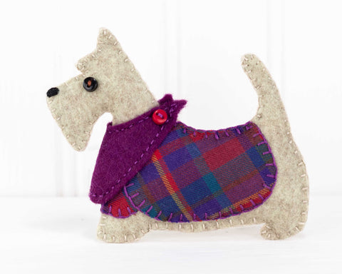 Bonnie the Scottie dog felt ornament