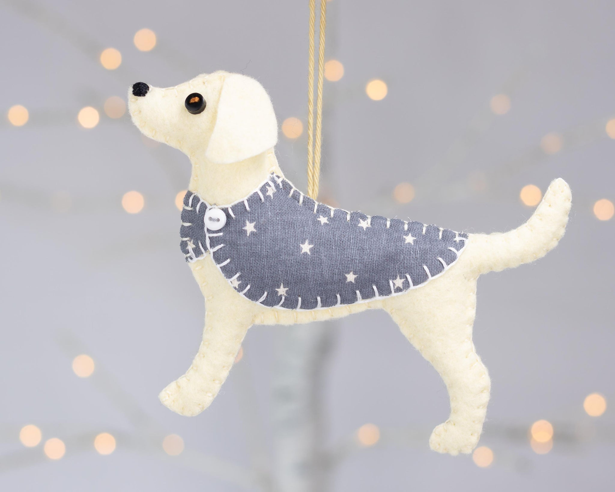 Daisy the Labrador felt ornament, Labrador dog ornament