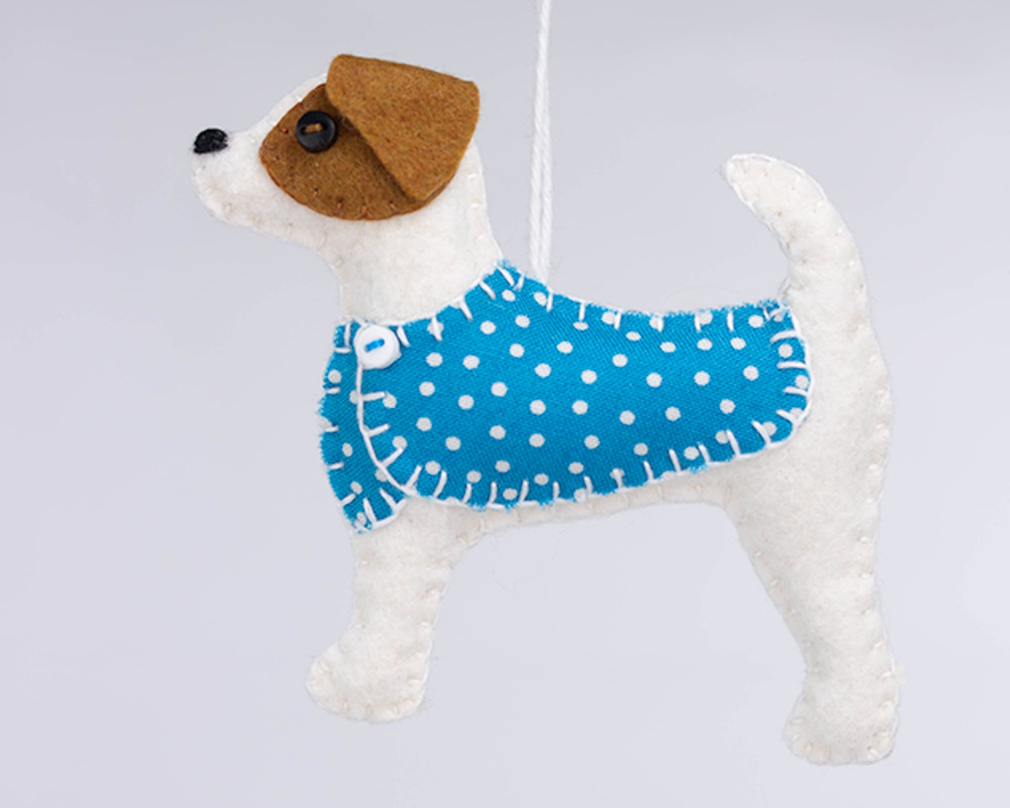 Terrier felt ornament, Jip the Jack Russell