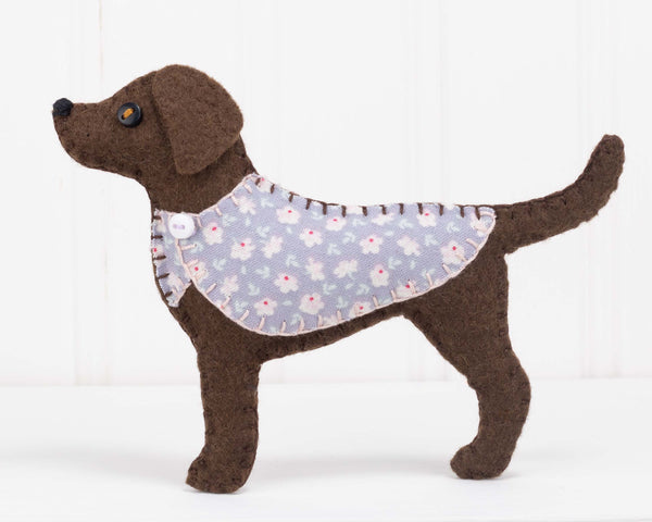 Chocolate Labrador felt ornament