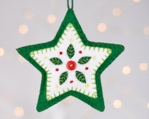 Felt Star Christmas Ornament
