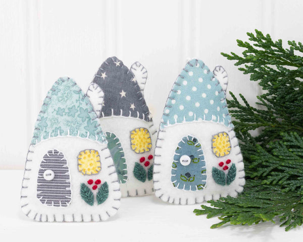 Grey and White Scandi House ornaments