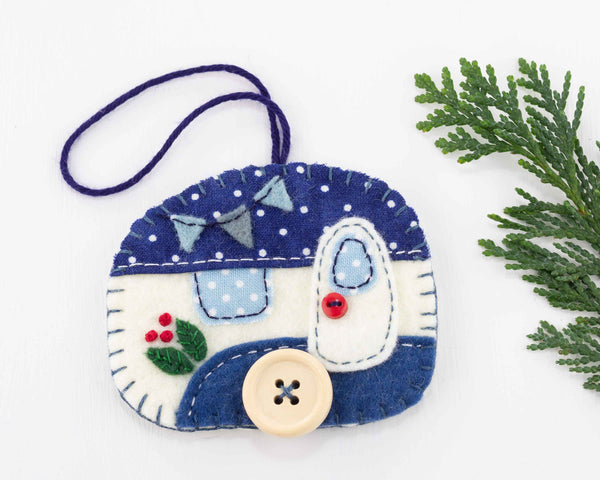 Felt Trailer Christmas Ornament