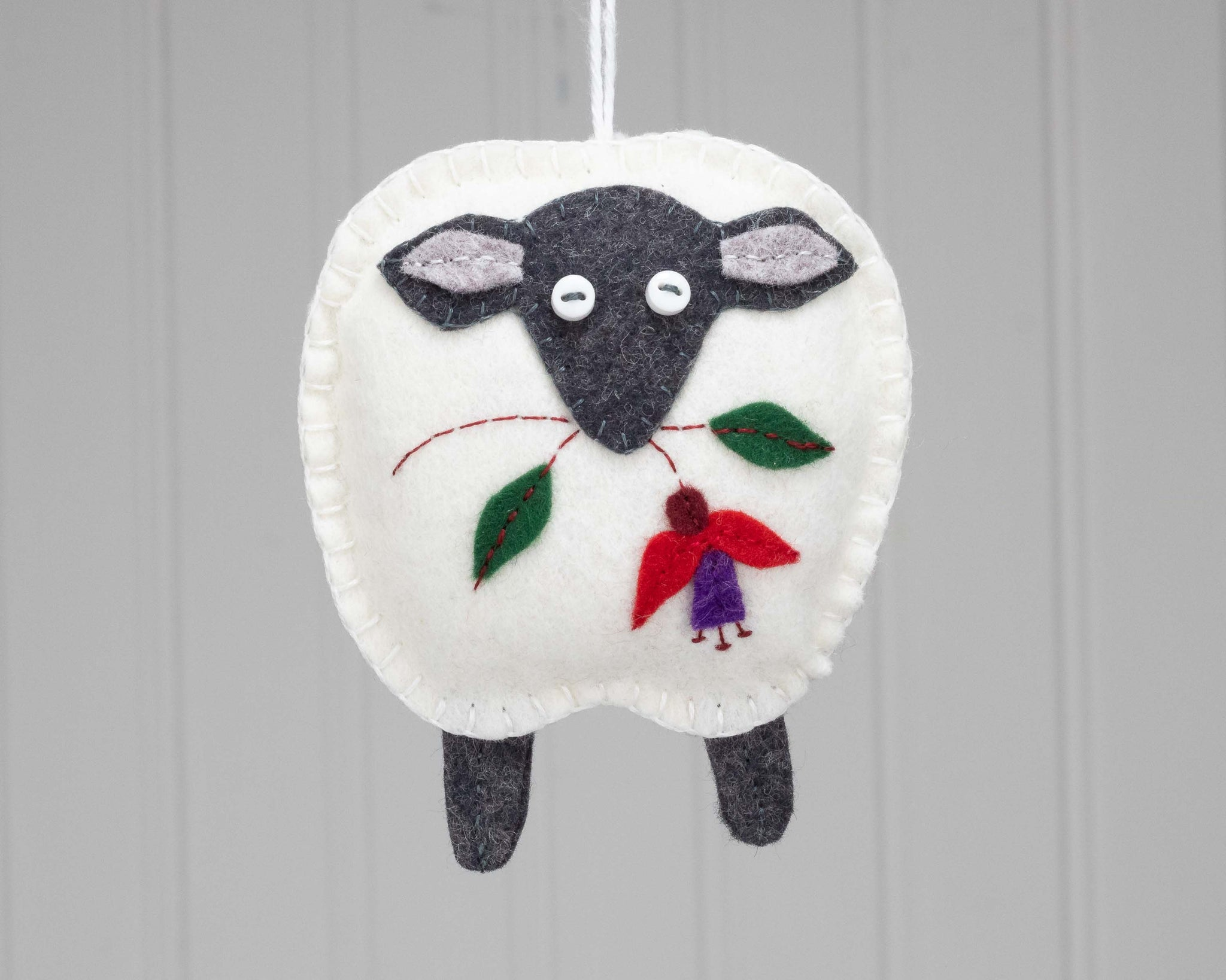 Irish sheep felt ornament