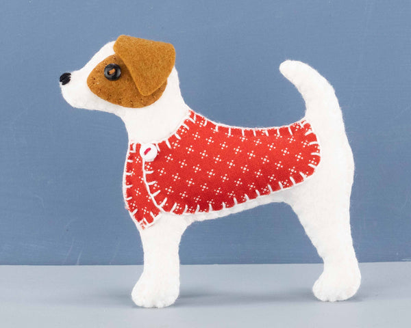 Jack Russell terrier felt ornament  kit