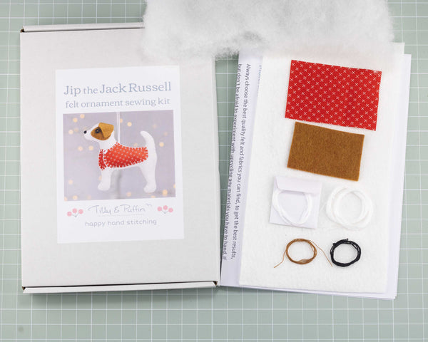 Jack Russell felt ornament  kit