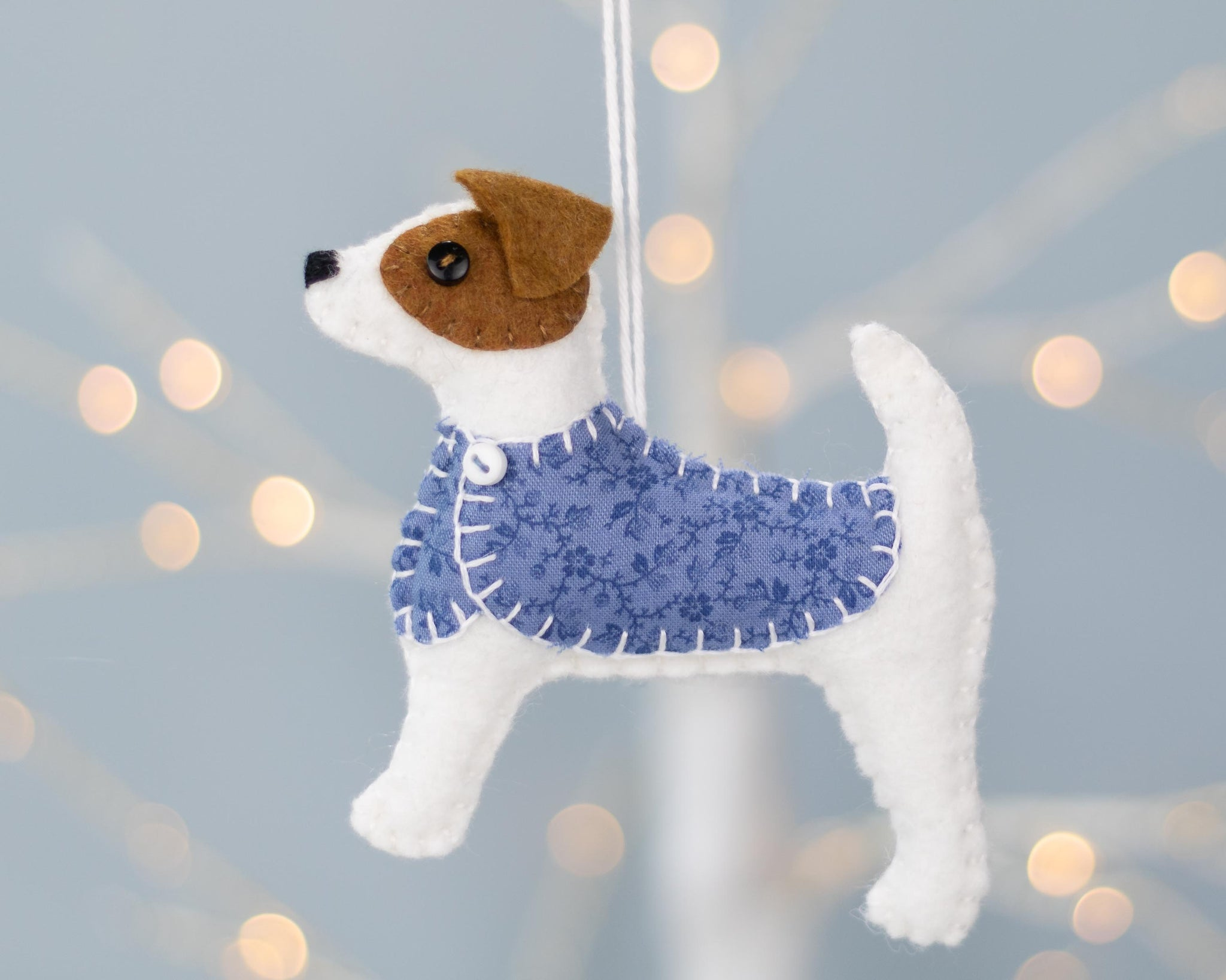 Jip the Jack Russell  felt ornament