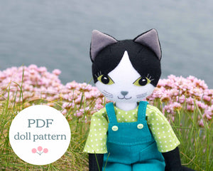 Puffin cat sewing pattern