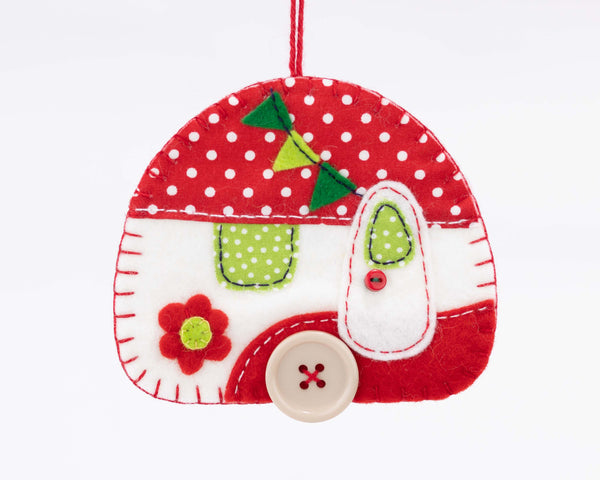 Caravan felt ornament sewing kit