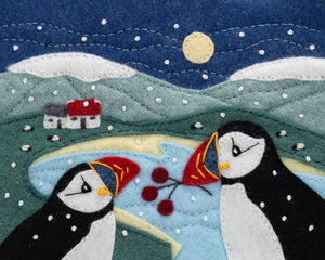 Large A5 Puffin Christmas cards