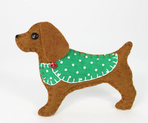 Millie the Cocker spaniel felt dog ornament