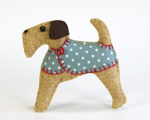 Bertie the Terrier felt dog ornament