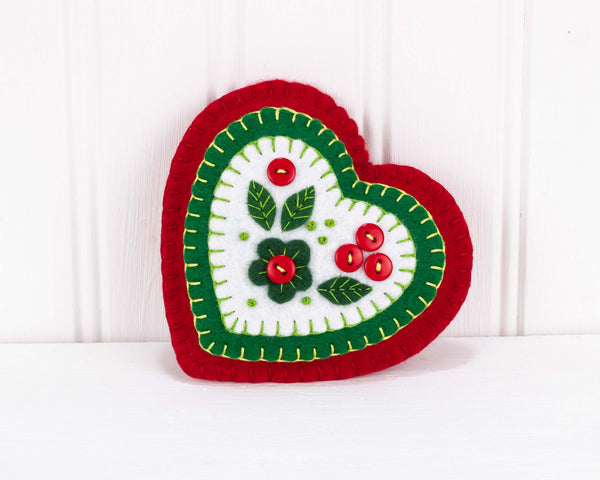 Heart Christmas ornament PDF sewing pattern