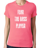 Fear The Bass Player Band T-Shirt-Women's - Clever Fox Apparel