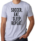 Soccer Eat Sleep Repeat T-Shirt-Women's - Clever Fox Apparel