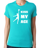 Kiss My Ace Volleyball T-Shirt-Women's - Clever Fox Apparel