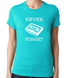 Never Forget the Cassette T-Shirt-Women's - Clever Fox Apparel