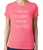 I Speak Fluent Movie Quotes T-Shirt-Men's - Clever Fox Apparel