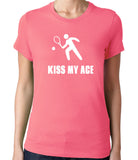 Kiss My Ace Men's Tennis T-Shirt-Women's - Clever Fox Apparel