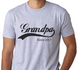 Grandpa Since 2017 T-Shirt-Men's - Clever Fox Apparel