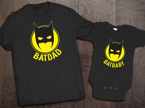 Batdad Batbaby Matching Set - Clever Fox Apparel
