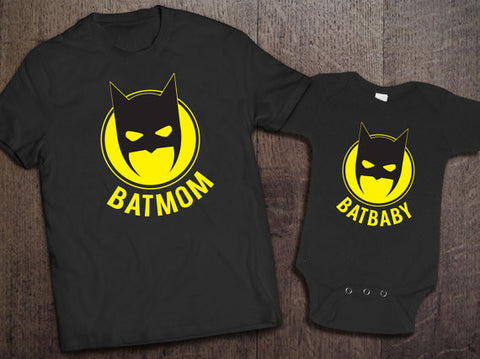 Batmom/ Batbaby Matching Set - Clever Fox Apparel