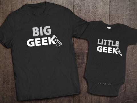 Big Geek, Little Geek Matching Set - Clever Fox Apparel