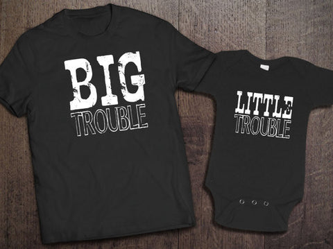 Big Trouble Little Trouble Set - Clever Fox Apparel