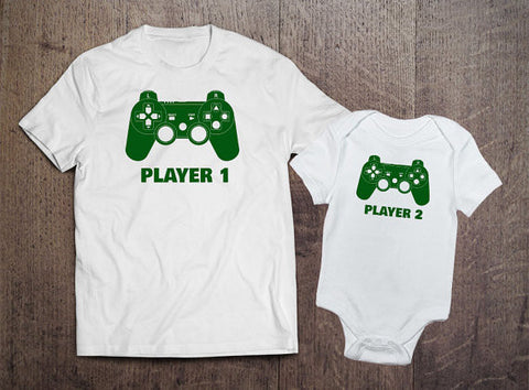 Player 1 Player 2 Matching Sets - Green Text