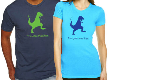 Auntysaurus Unclesaurus Shirt Set - Clever Fox Apparel